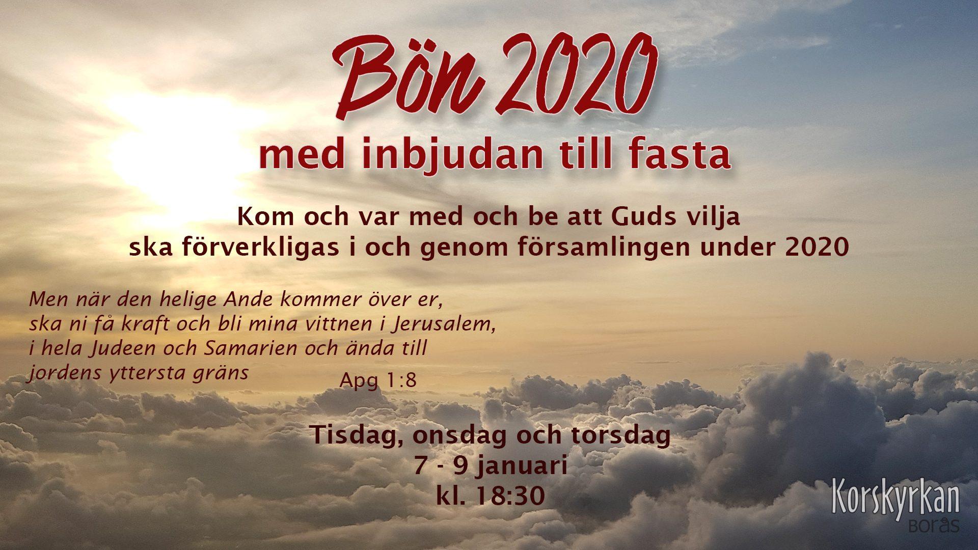 Bön 2020