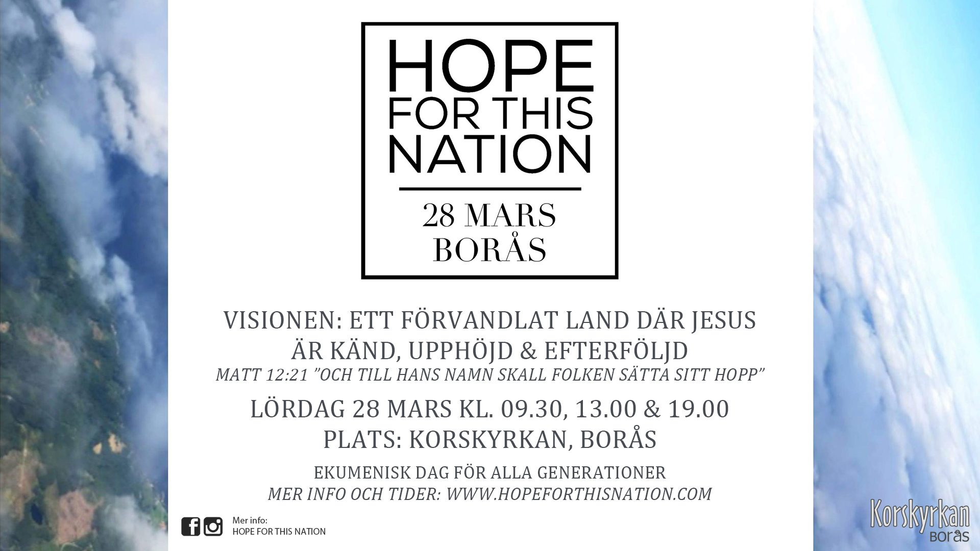Hope for this nation – Inställt