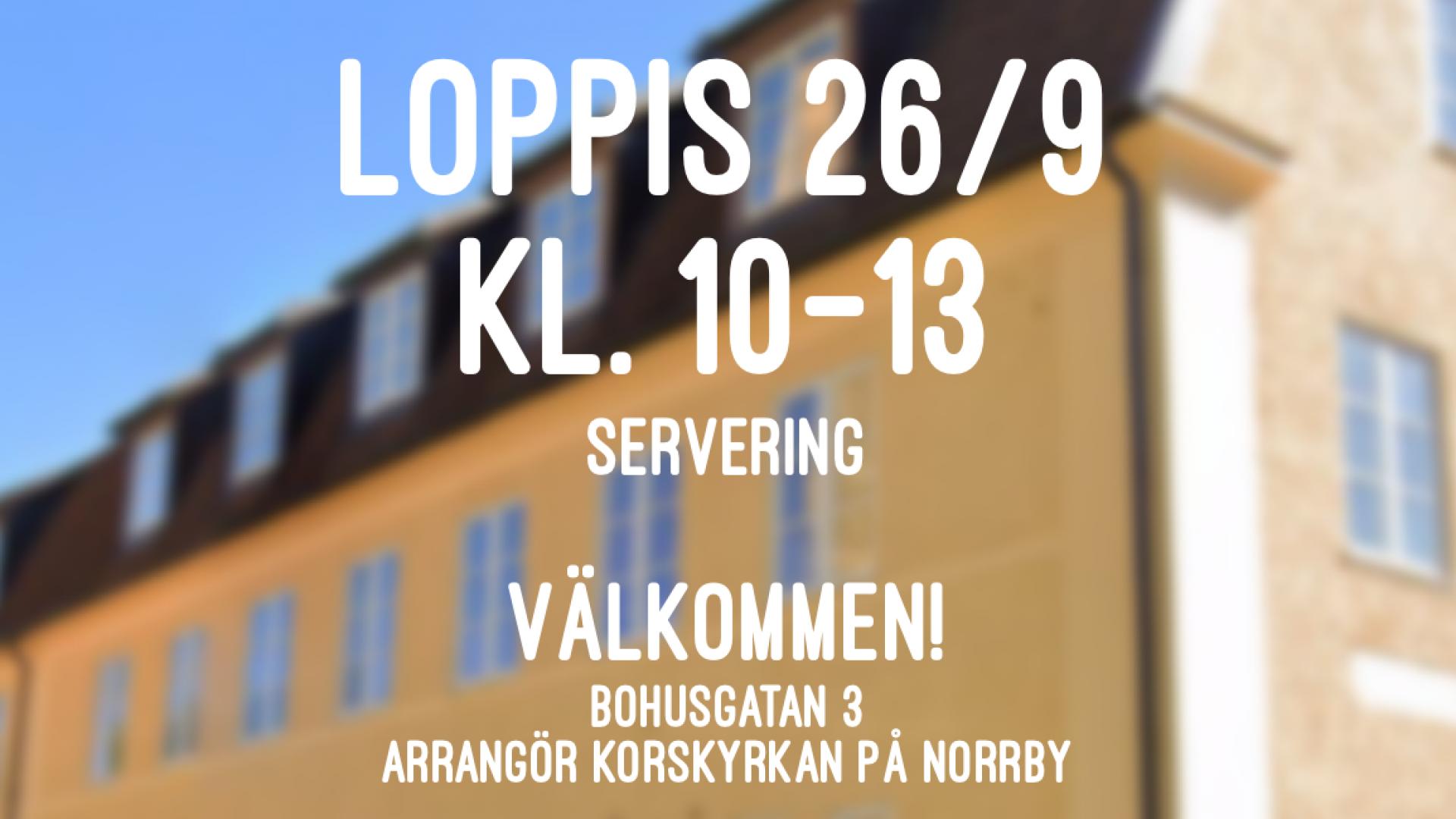 Loppis 26/9