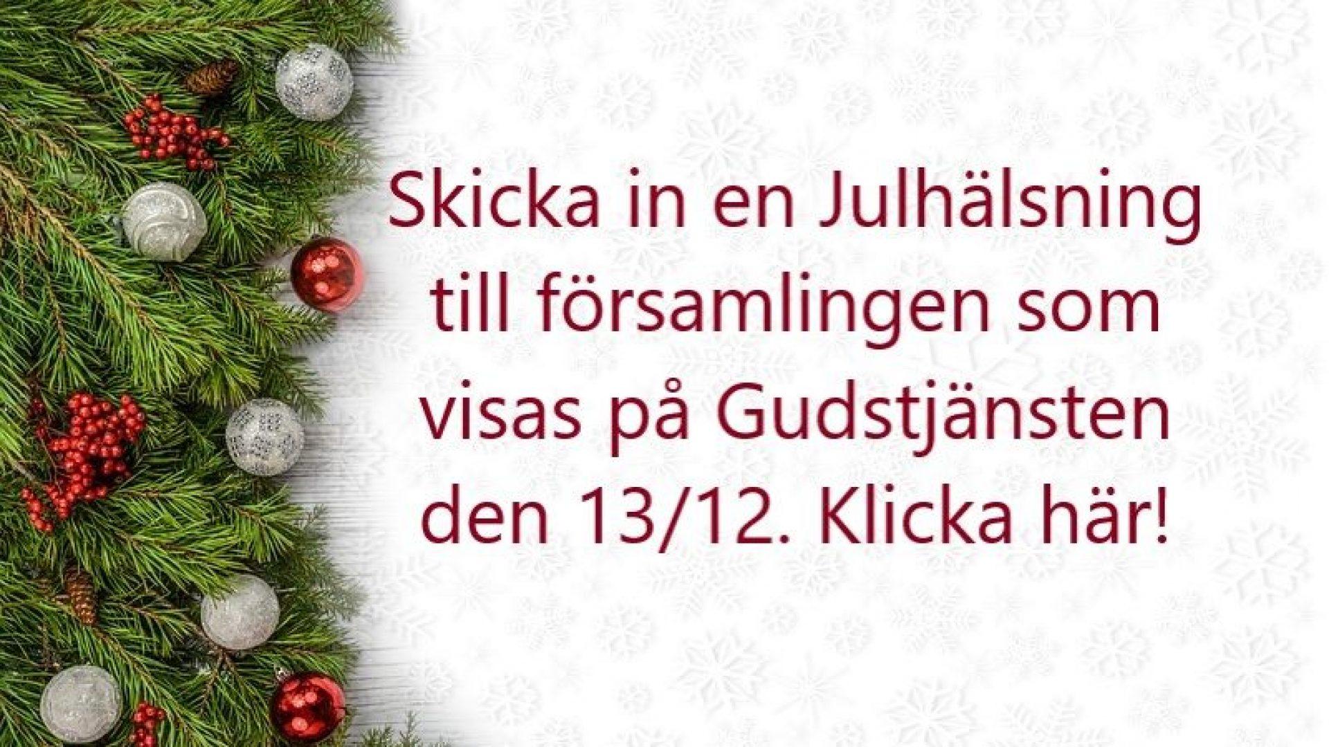 Julhälsning till Församlingen!